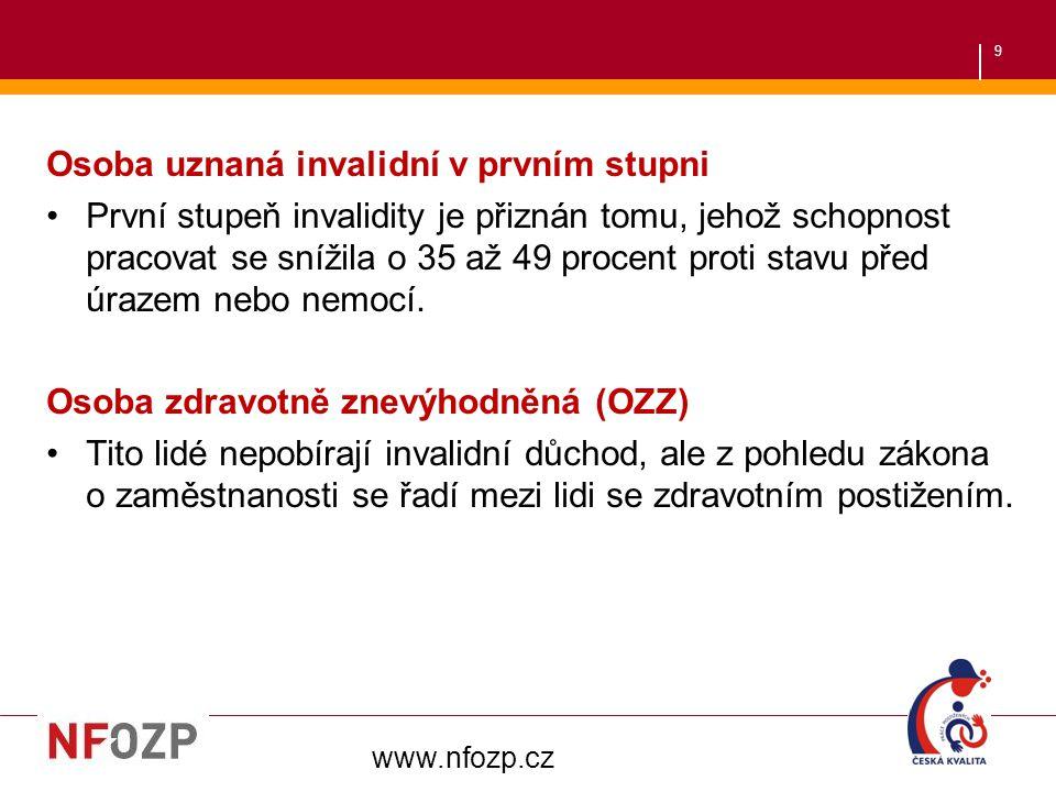 40 Co na závěr? To, že nejsem OZP, neznamená, že zítra může být vše jinak… www.nfozp.cz