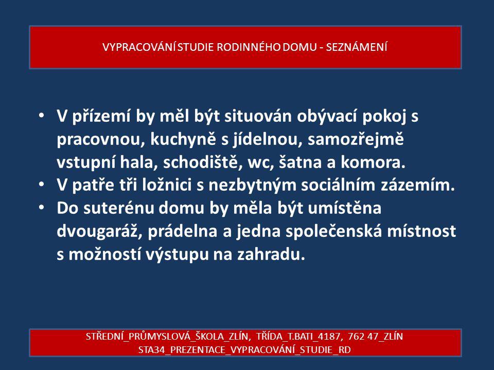 VYPRACOVÁNÍ STUDIE RODINNÉHO DOMU – NÁVRHY 2.