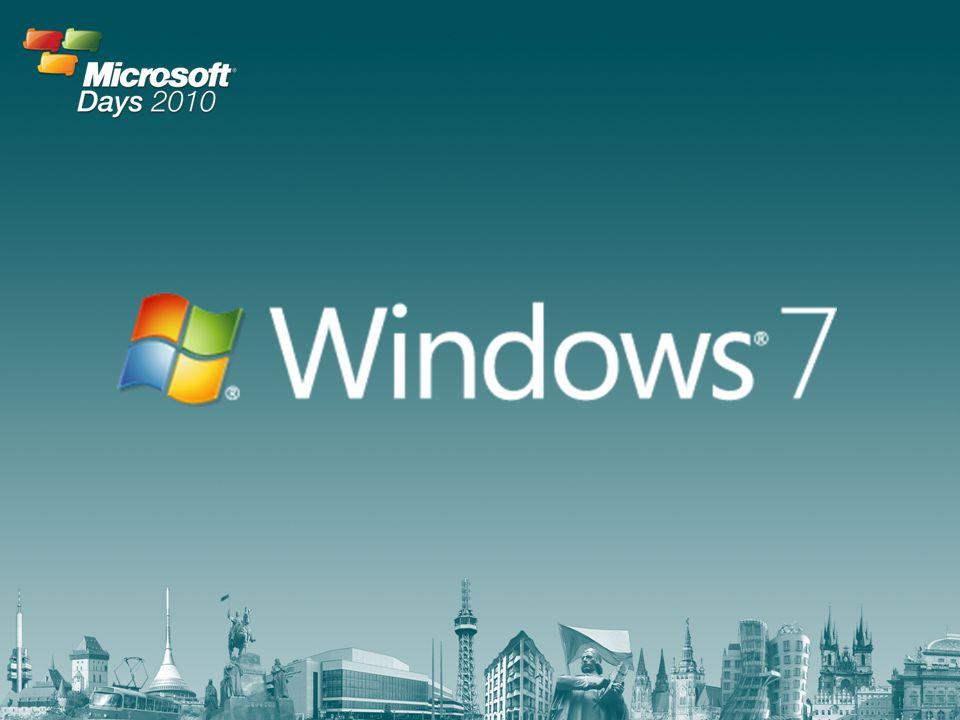 Velikost trhu a příležitosti – situace loni Celkem přes 4,6 miliónu počítačů v ČR Více než 50% počítačů splňuje HW požadavky systému Windows 7 Od uvedení systému do konce roku 2010 se prodá více než 1 milión počítačů s tímto systémem Každé Euro, které vydělá Microsoft na systému Windows 7, vygeneruje pro partnery zhruba 19,18 EUR*  40,7% HW  36,3% SW  23,0% služby *Zdroj IDC, The Economic Impact of Windows 7 Study, 2009
