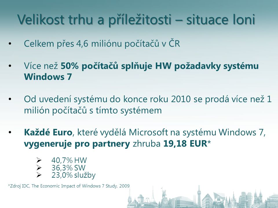 Windows ® MultiPoint ™ Server 2010 Známé prostředí Windows Poskytuje základní vlastnosti Windows 7 např.