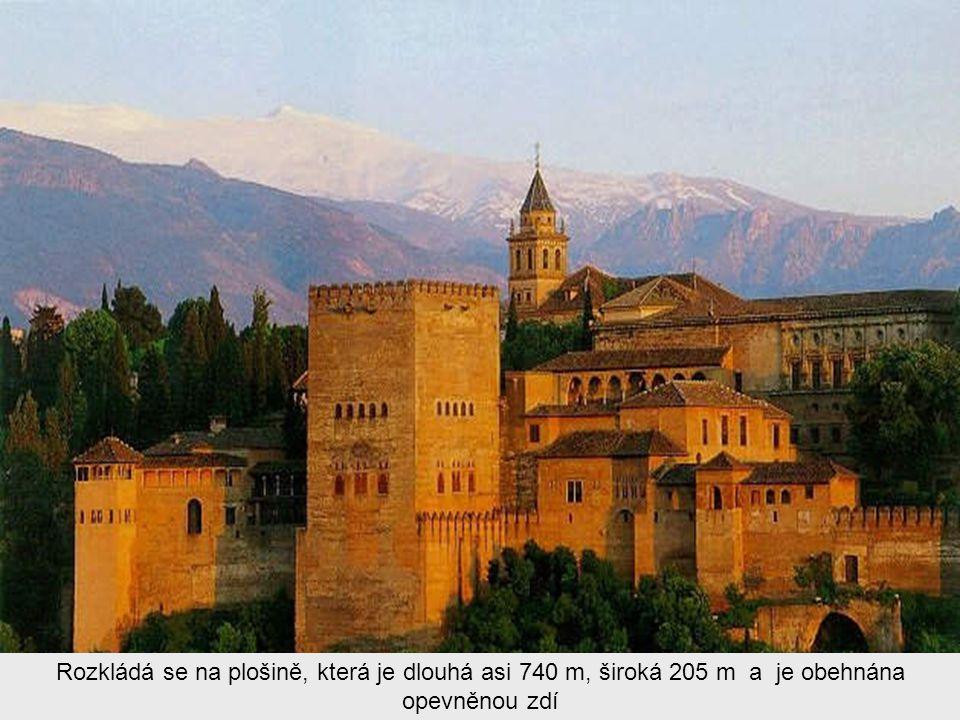 Alhambra (doslovně Rudý hrad) je středověký komplex paláců a pevností maurských panovníků Granady