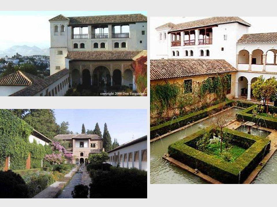 Zdejší zahrady, založené ve 13.stol., byly během let stále udržovány.