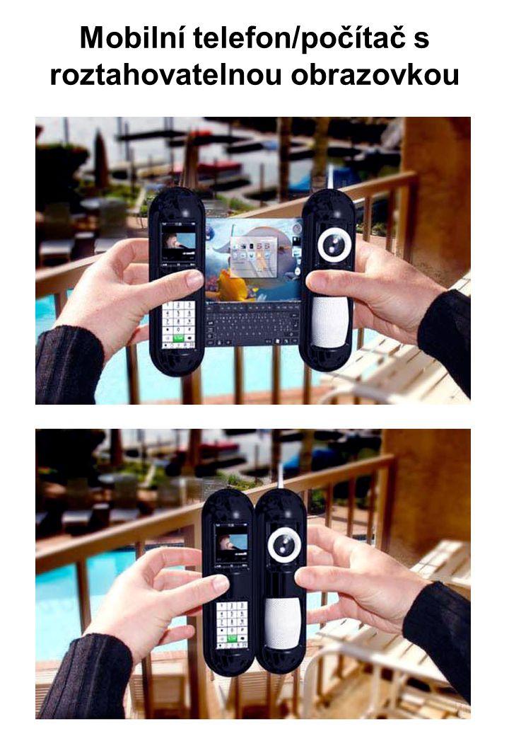 Mobilní telefon/počítač s roztahovatelnou obrazovkou