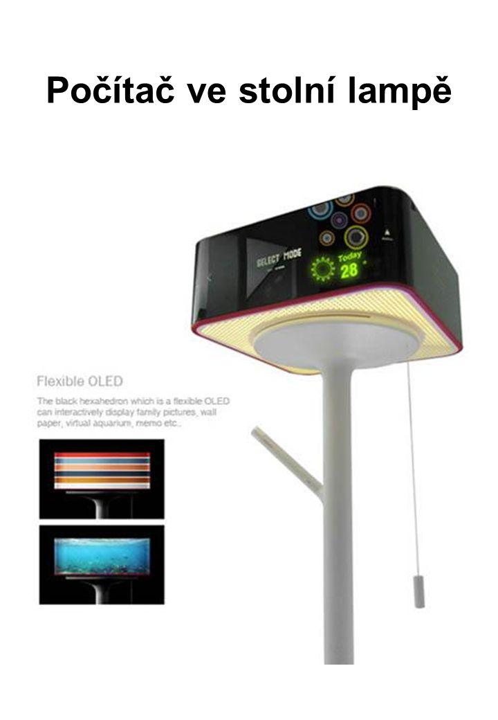 Počítač ve stolní lampě