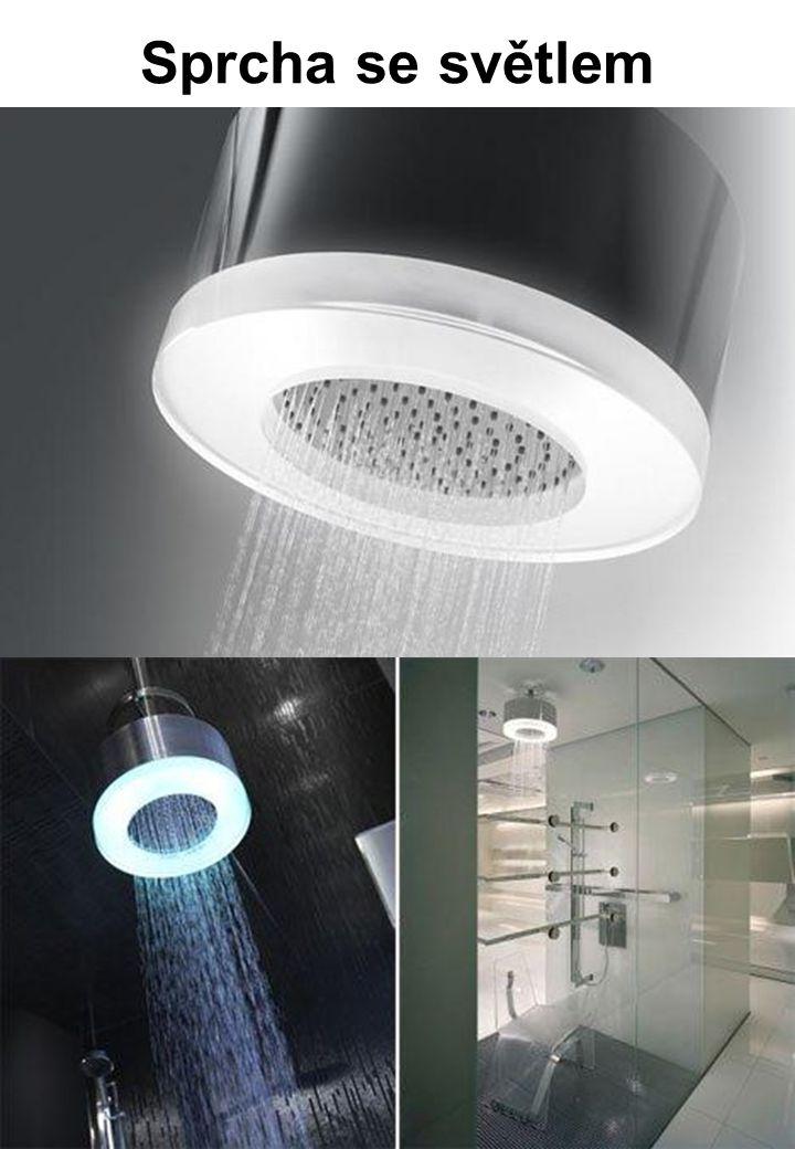 Sprcha se světlem