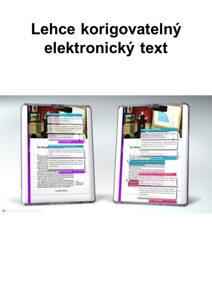 Lehce korigovatelný elektronický text
