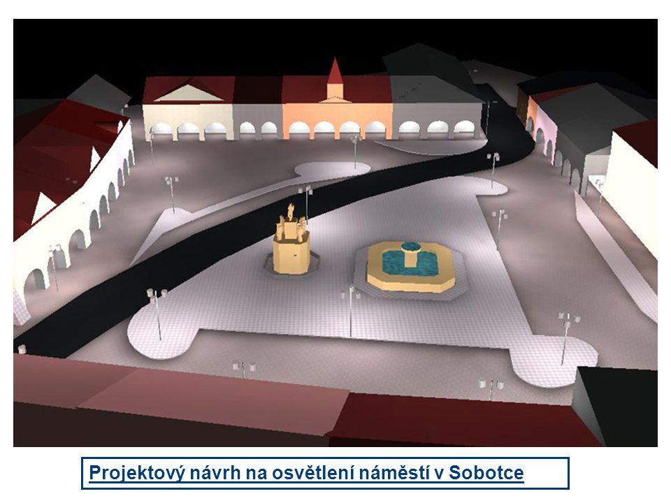 Projektový návrh na osvětlení náměstí v Sobotce