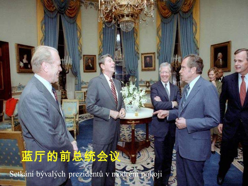 Setkání bývalých prezidentů v modrém pokoji 蓝厅的前总统会议