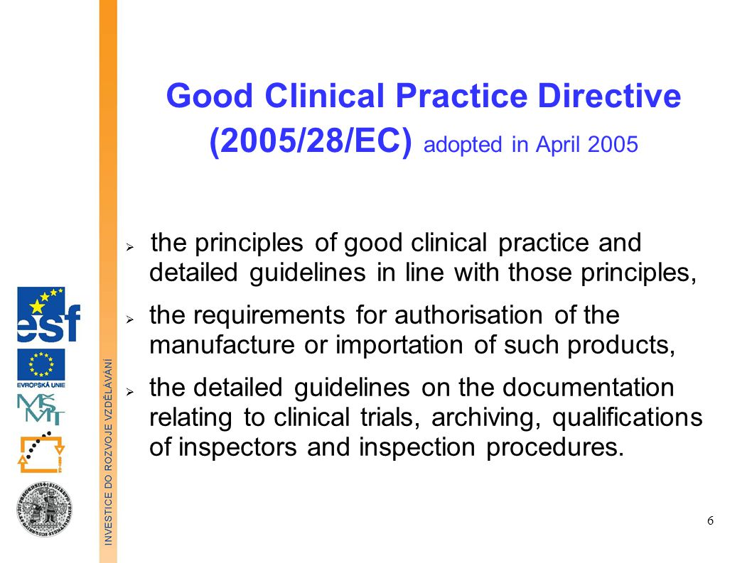 Good Clinical Practice (GCP) is an international ethical and scientific quality standard for designing, conducting, recording and reporting trials that involve the participation of human subjects.