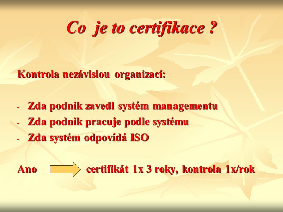 Co je to certifikace .