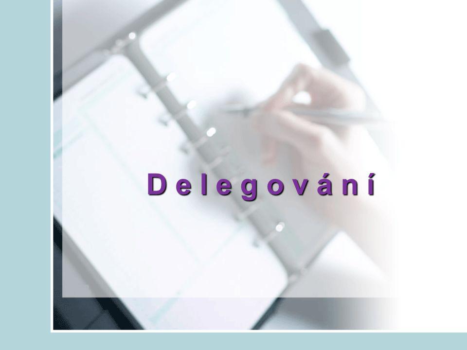 Co je delegování.