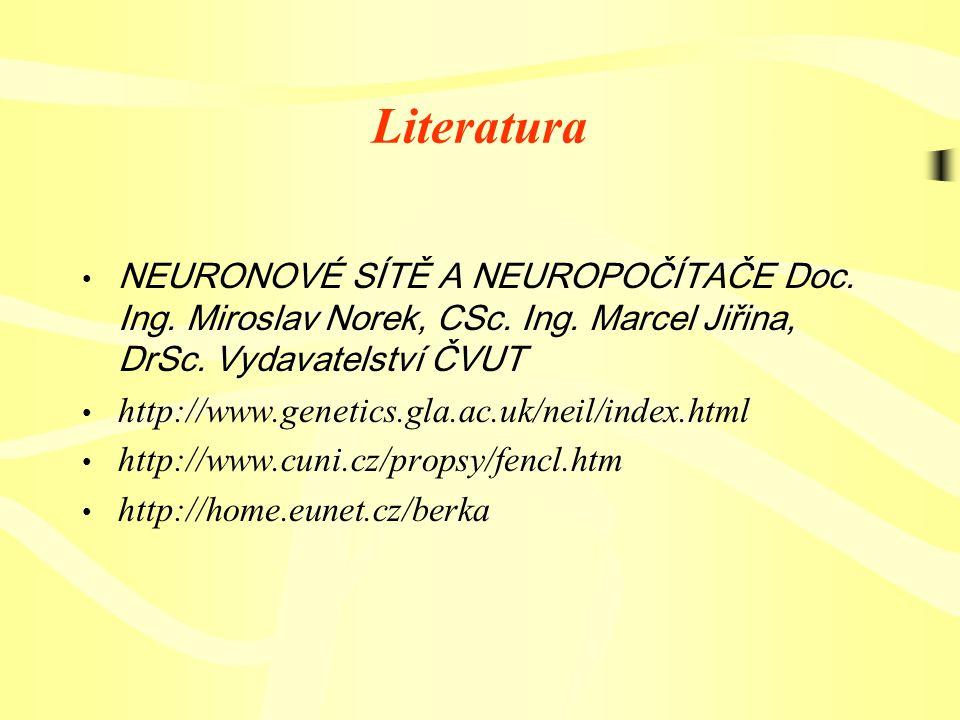 Literatura NEURONOVÉ SÍTĚ A NEUROPOČÍTAČE Doc. Ing.
