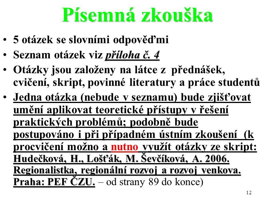 12 Písemná zkouška 5 otázek se slovními odpověďmi příloha č.