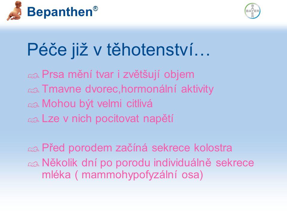 Bepanthen ® Indikace: Bepanthen mast (prevence), léčení ragád prevence a léčení opruzenin u kojenců zvláčnění suché pokožky Bepanthen Mast – Spojenec pokožky