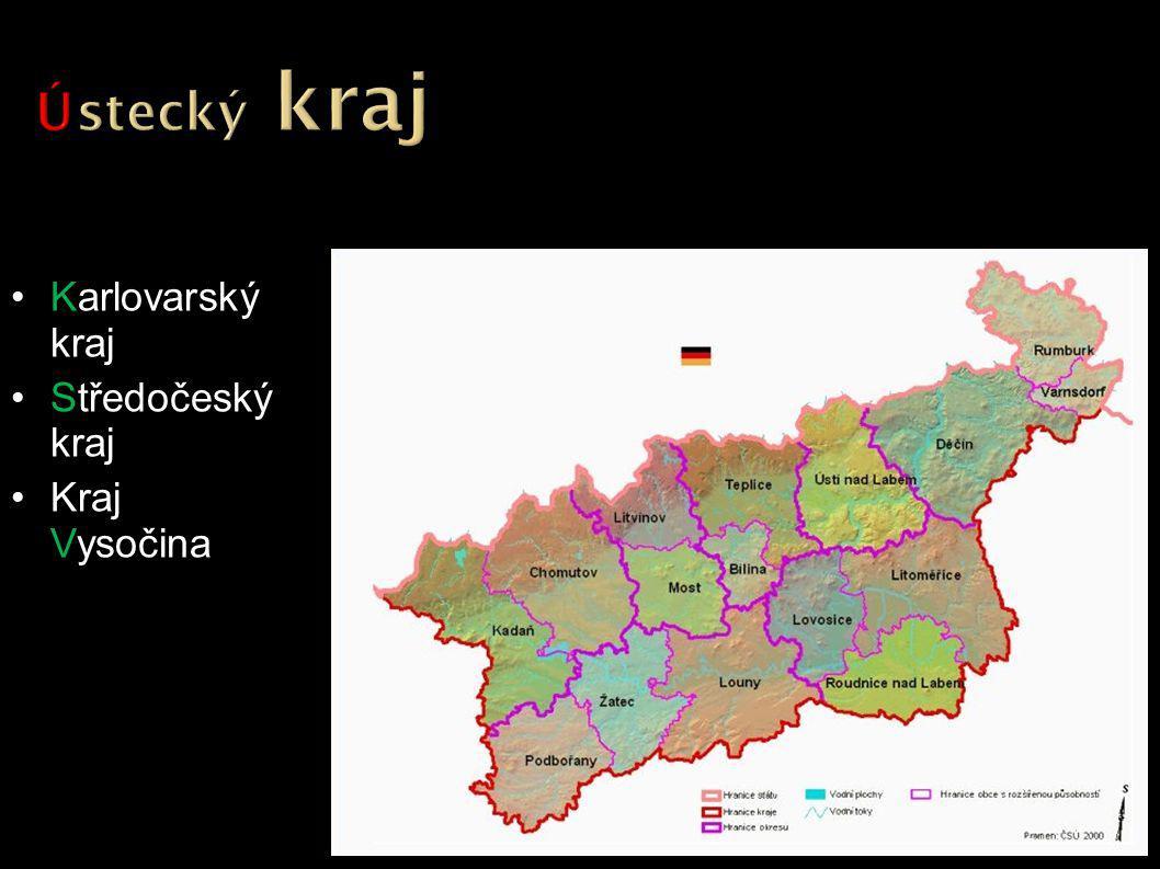 Karlovarský kraj Středočeský kraj Kraj Vysočina