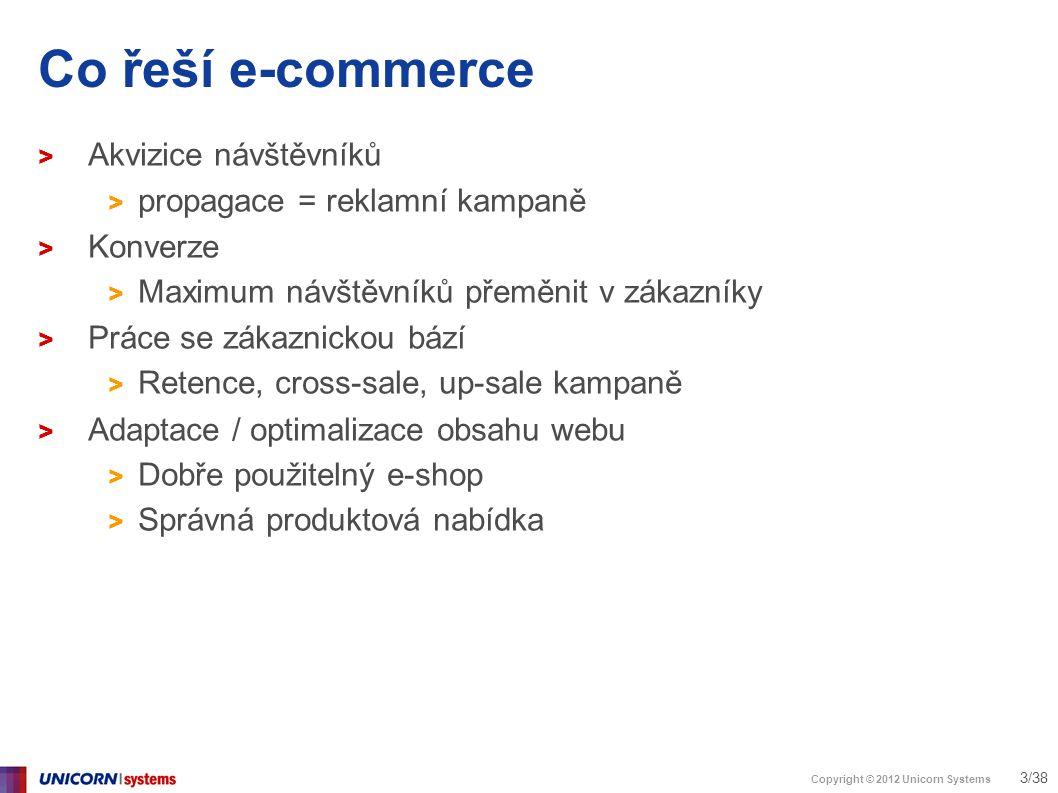 Copyright © 2012 Unicorn Systems 14/38 Analytika není reporting > Seomoz.org > Web o SEO optimalizaci – free content / prémiový content > Co funguje líp – dlouhá nebo krátká stránka?
