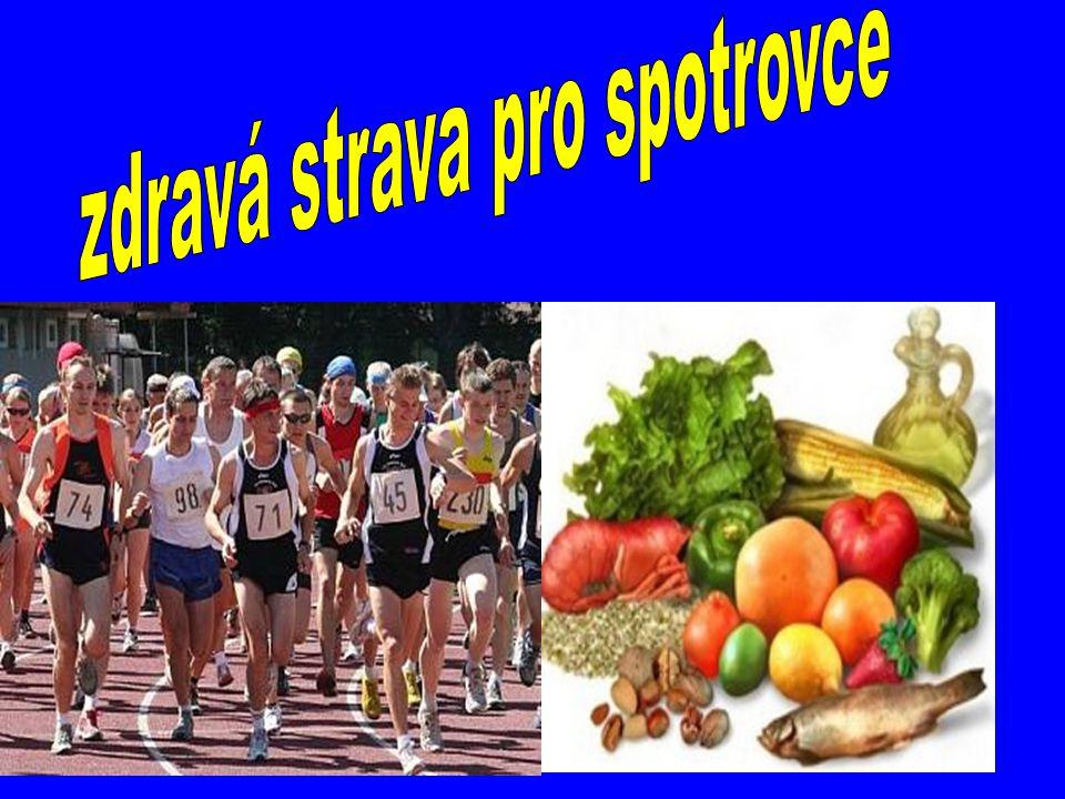 Správná výživa : Přiměřená dávka jídla a pití má jeden z rozhodujících podílů na sportovní výkonnosti.