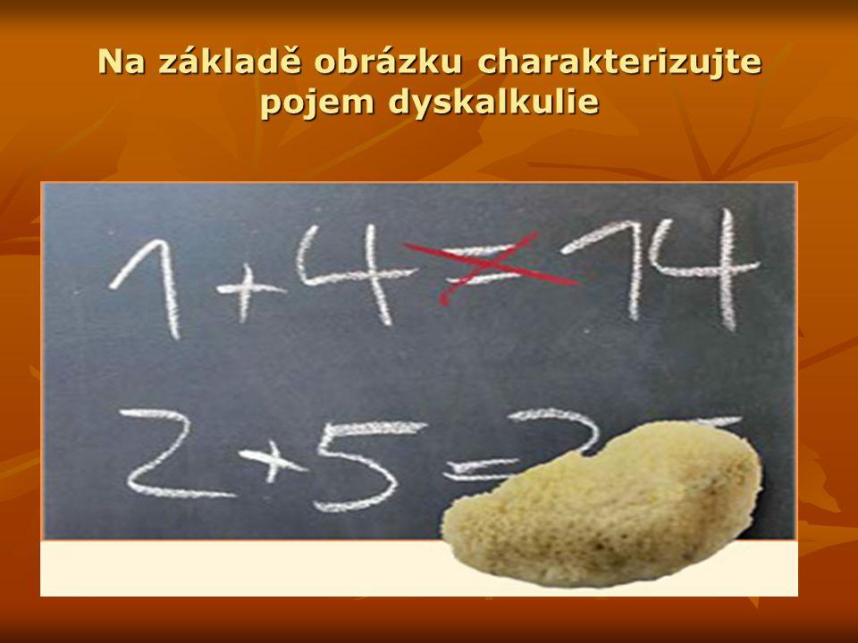 Třídění dyskalkulie verbální dyskalkulie – žák má problémy při označování množství a počtu předmětů, operačních znaků a matematických úkonů.