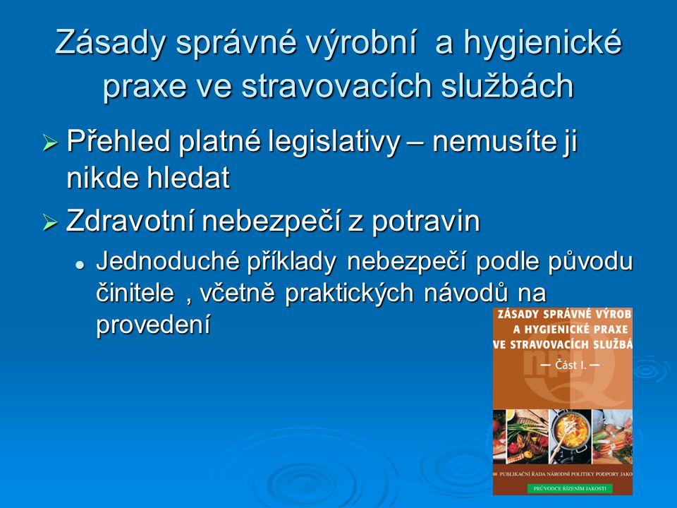 Zásady správné výrobní a hygienické praxe ve stravovacích službách  Přehled platné legislativy – nemusíte ji nikde hledat  Zdravotní nebezpečí z pot