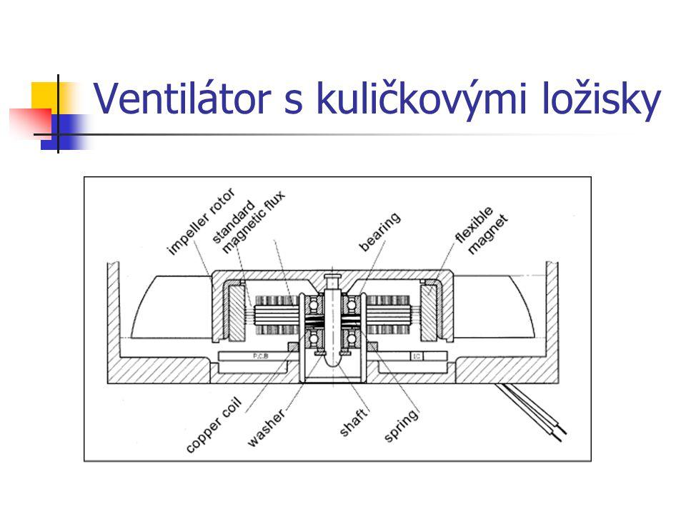Ventilátor s kuličkovými ložisky