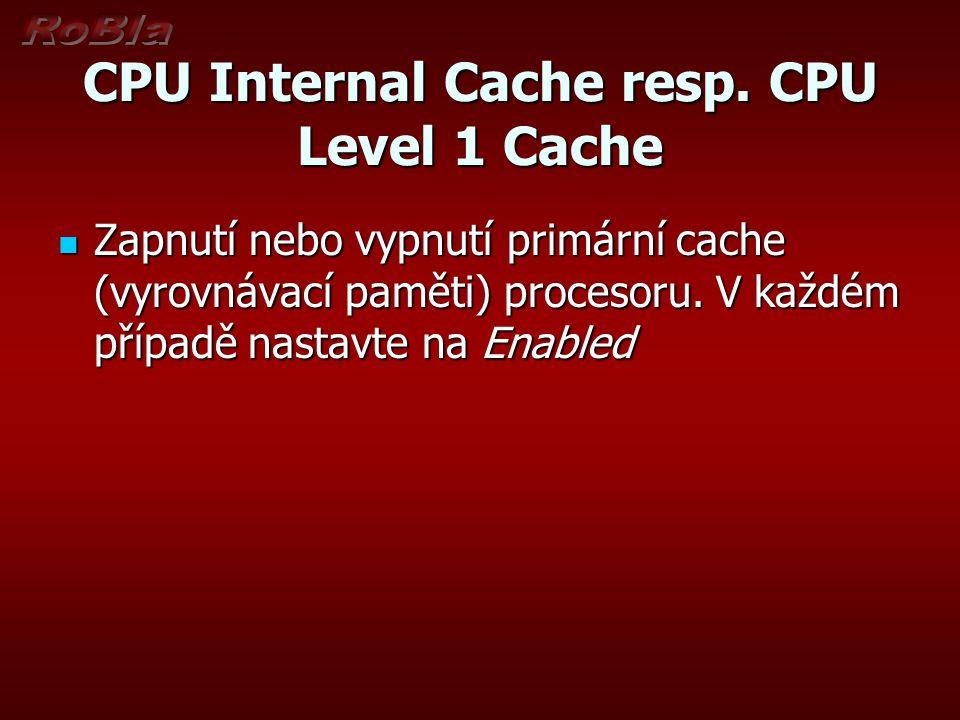 External Cache resp.