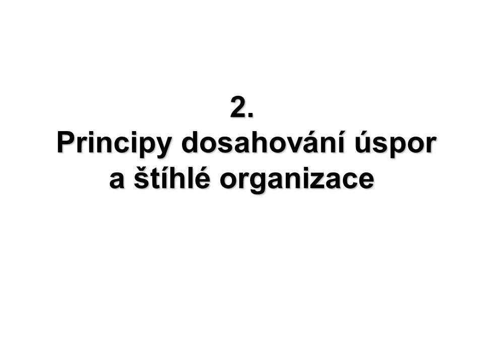 8 2. Principy dosahování úspor a štíhlé organizace