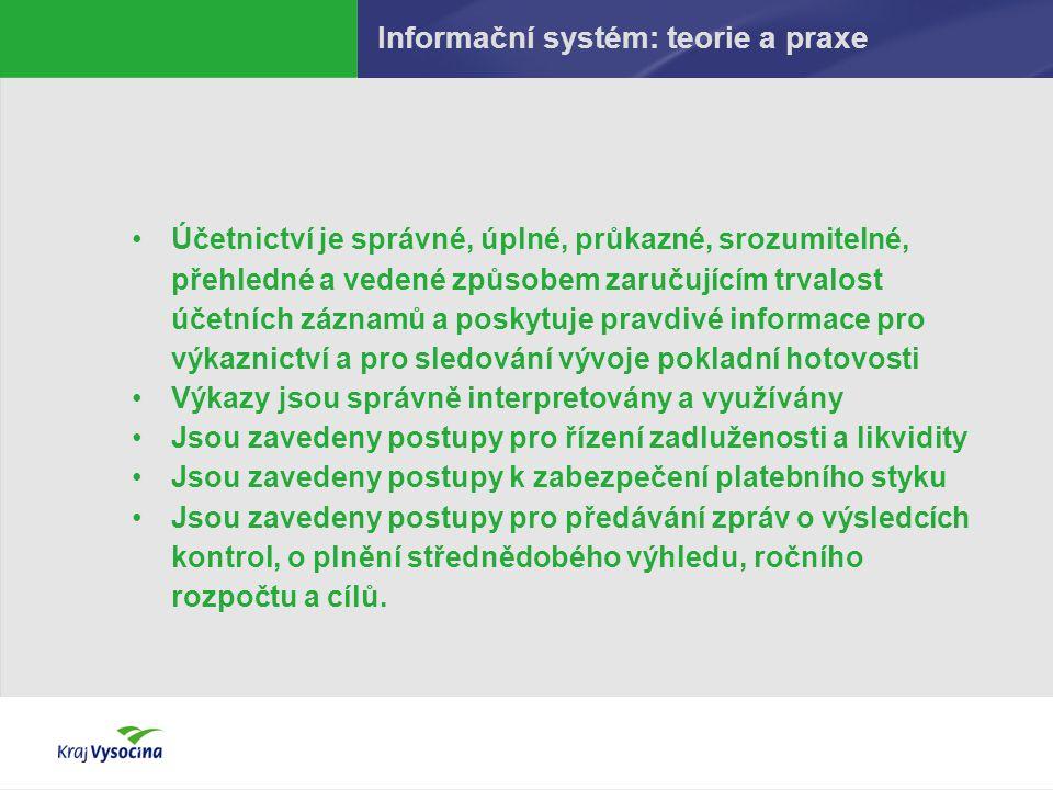 Informační systém: teorie a praxe Účetnictví je správné, úplné, průkazné, srozumitelné, přehledné a vedené způsobem zaručujícím trvalost účetních zázn
