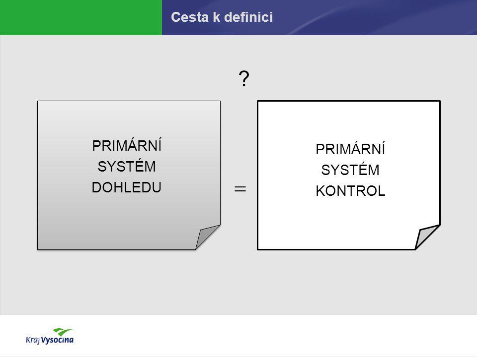 Cesta k definici PRIMÁRNÍ SYSTÉM DOHLEDU PRIMÁRNÍ SYSTÉM KONTROL  ?