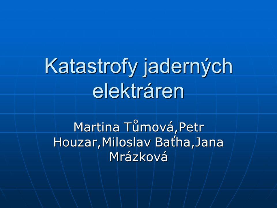 Katastrofy jaderných elektráren Martina Tůmová,Petr Houzar,Miloslav Baťha,Jana Mrázková