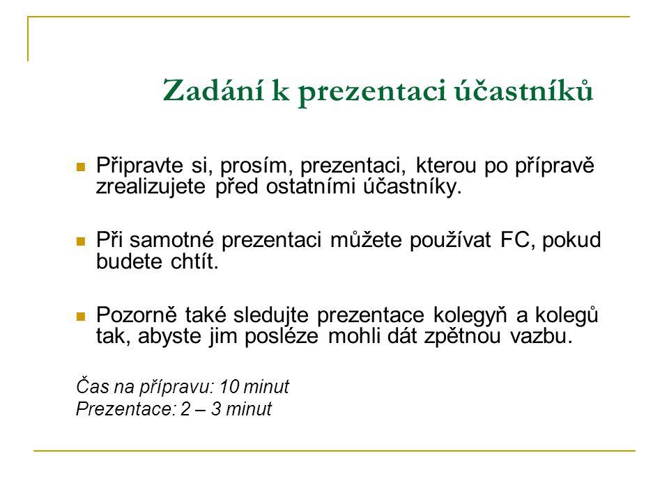 Oblasti hodnocení První dojem a osobní image Obsah a forma promluvy (příp.