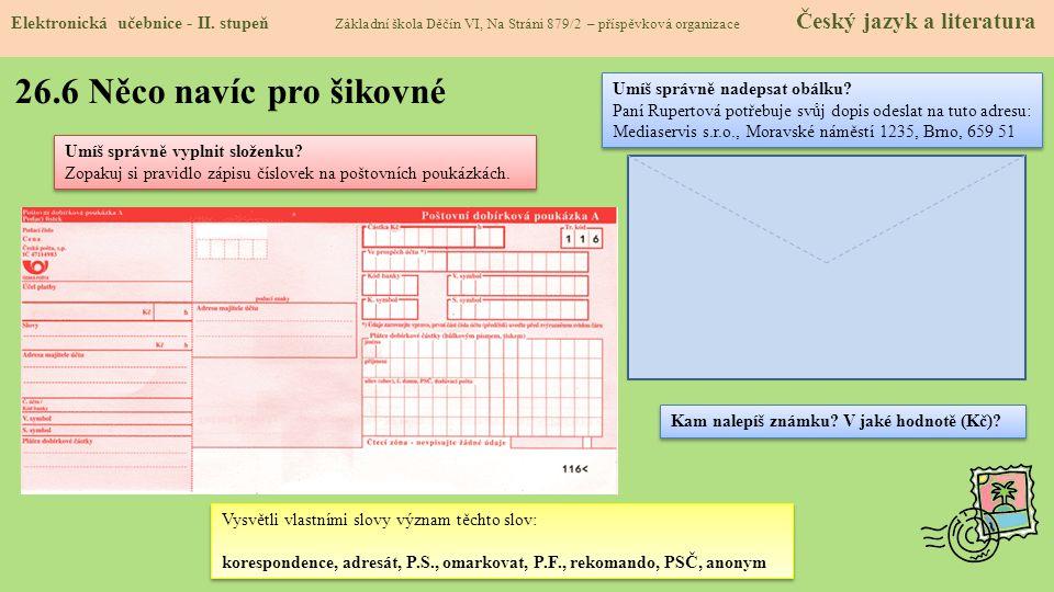 26.6 Něco navíc pro šikovné Elektronická učebnice - II.