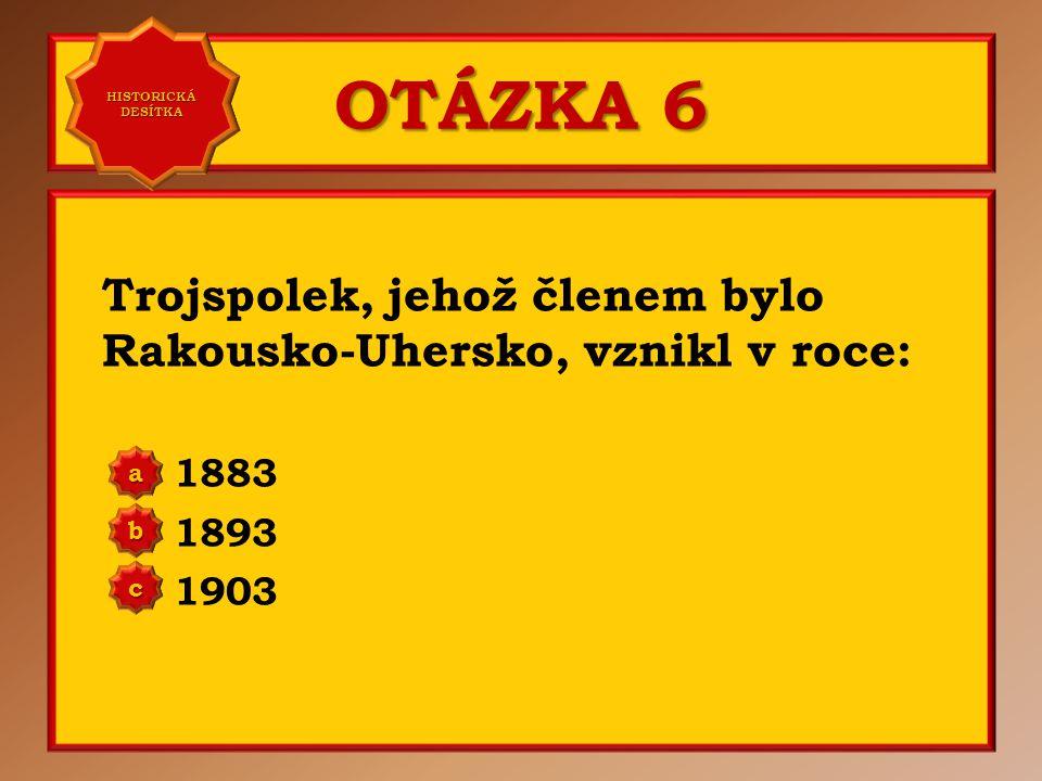 OTÁZKA 5 V roce 1862 byla založena tělocvičná organizace: Orel Junák Sokol a b c Správně c Vaše odpověď: c HISTORICKÁ DESÍTKA HISTORICKÁ DESÍTKA