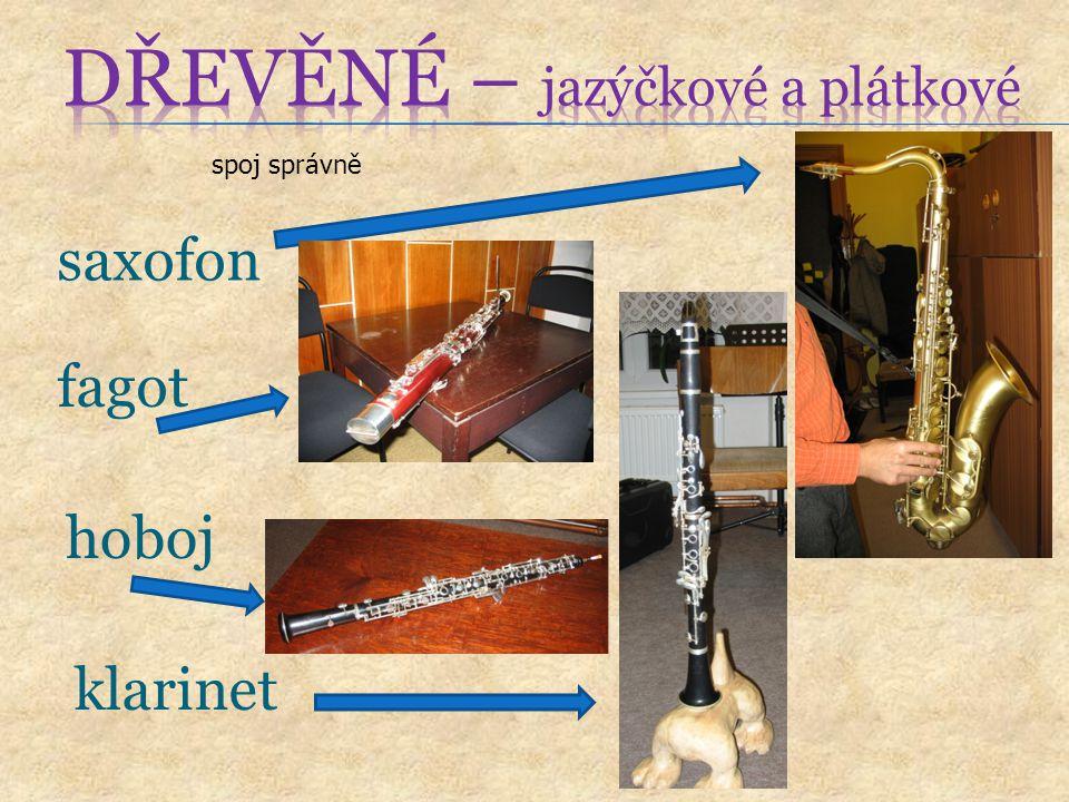 saxofon spoj správně fagot hoboj klarinet
