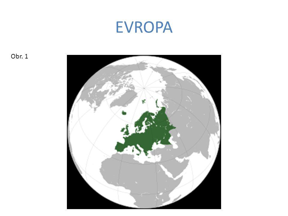 1. Doplňte hranici Evropy a Asie Obr. 6 1 2 3 4 5 6 7 8 9 10