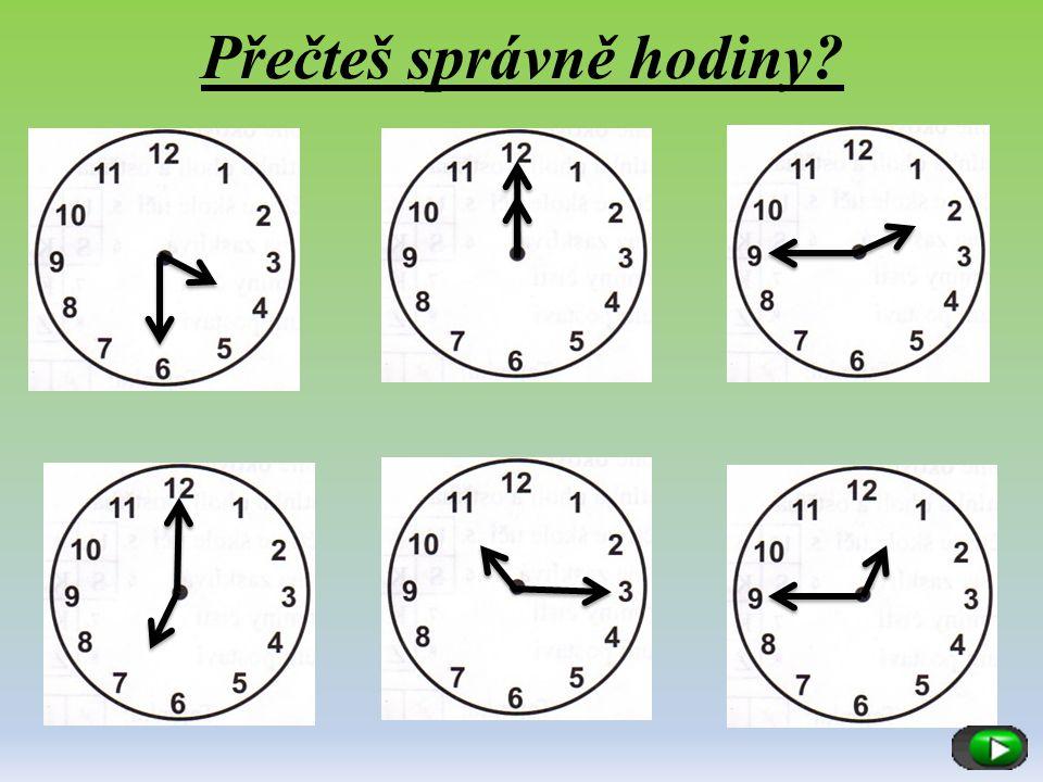 Přečteš správně hodiny?