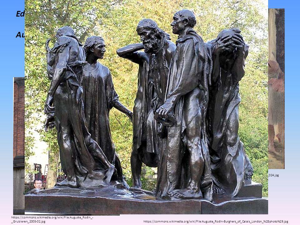 Edgar Degas Tanečnice Auguste Rodin - sochař Občané z Calais Myslitel Kráčející muž https://commons.wikimedia.org/wiki/File:Edgar_Germain_Hilaire_Dega