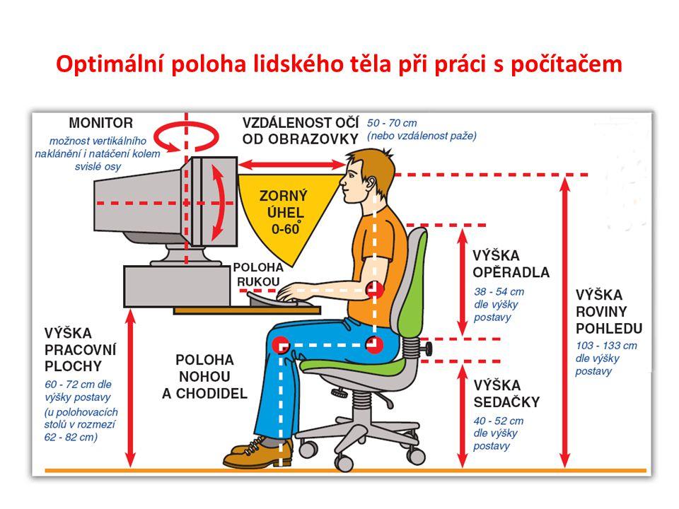 Optimální poloha lidského těla při práci s počítačem