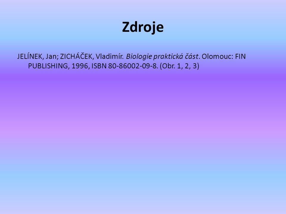 Zdroje JELÍNEK, Jan; ZICHÁČEK, Vladimír. Biologie praktická část. Olomouc: FIN PUBLISHING, 1996, ISBN 80-86002-09-8. (Obr. 1, 2, 3)