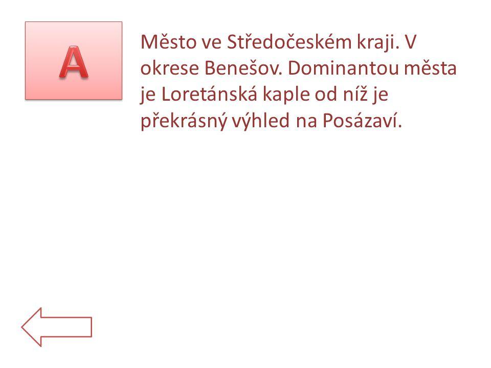 Město ve Středočeském kraji. V okrese Benešov.