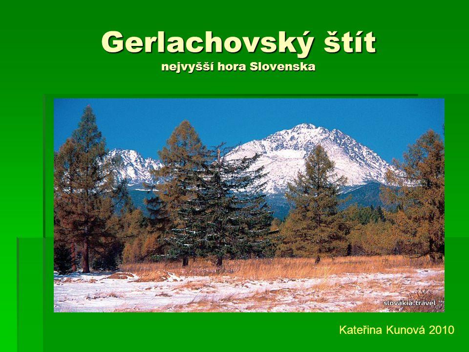 Vysoké Tatry část Karpat Kateřina Kunová 2010