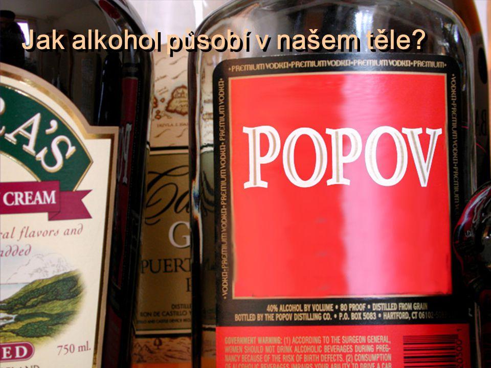 Jak alkohol působí v našem těle?