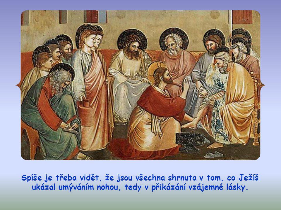 """V Janově evangeliu je výraz """"má slova často synonymem pro """"má přikázání ."""
