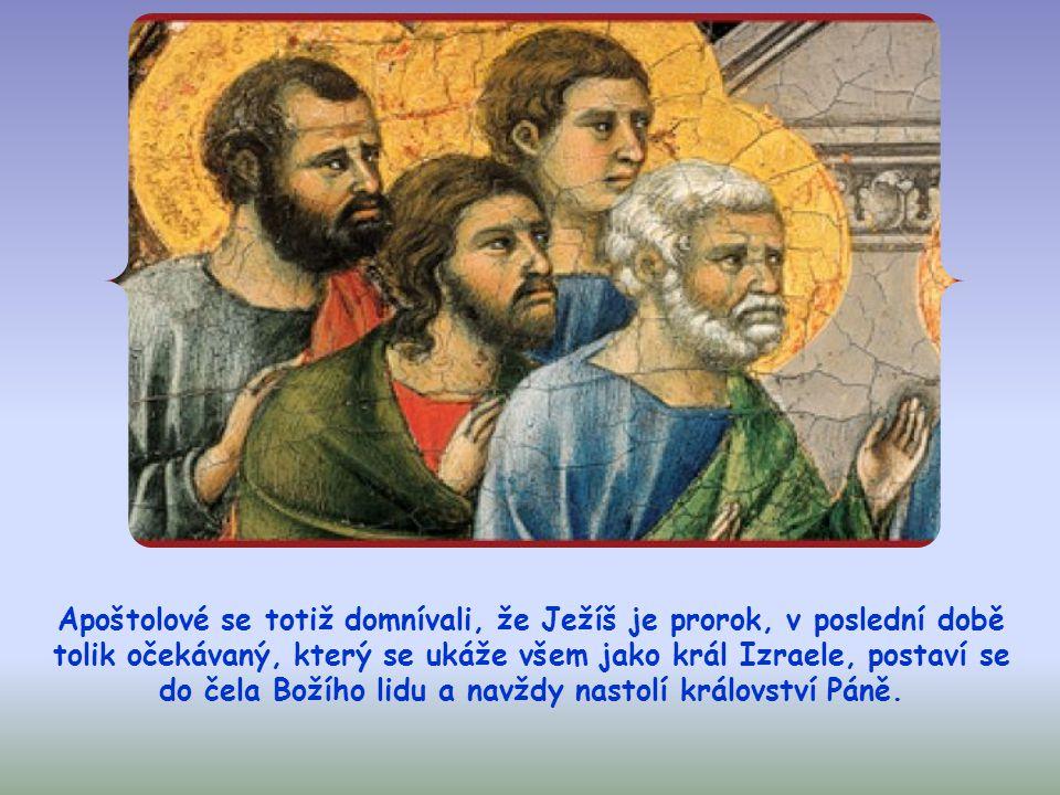 Juda, ne ten Iškariotský, se ho tehdy zeptal, proč se chce dát poznat jim, a světu ne.