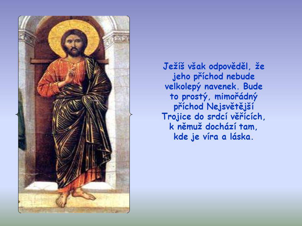 Apoštolové se totiž domnívali, že Ježíš je prorok, v poslední době tolik očekávaný, který se ukáže všem jako král Izraele, postaví se do čela Božího l