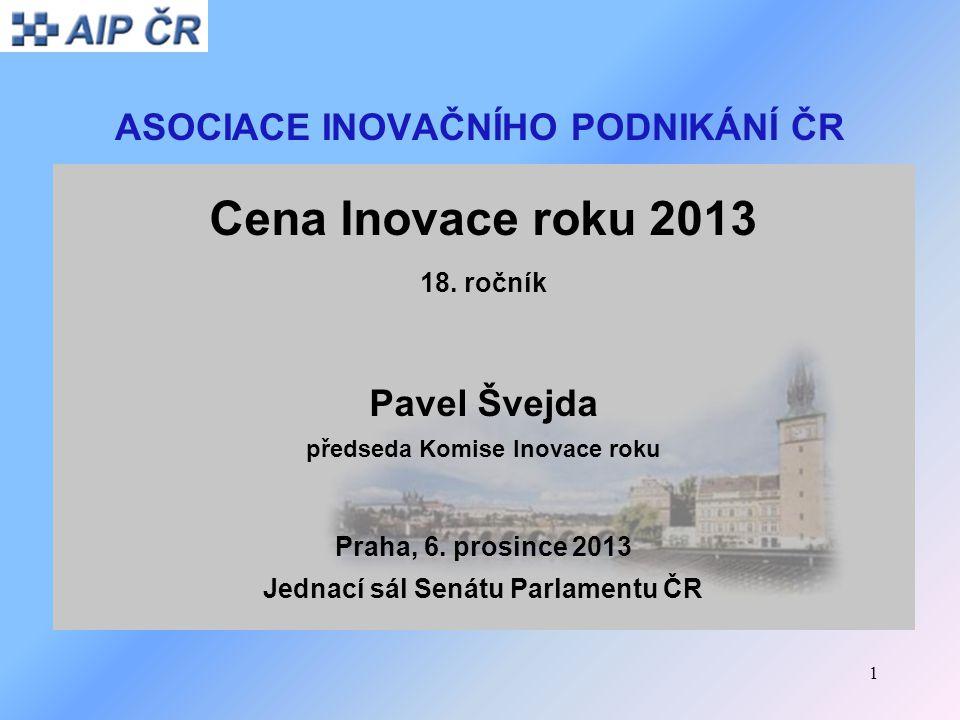 12 Cena Inovace roku 2013 Inovační produkt: Přenosný ultralehký detektor explosiv Předkladatel: RS DYNAMICS s.r.o., Praha 4 Kontaktní osoba: Pavel Povolný