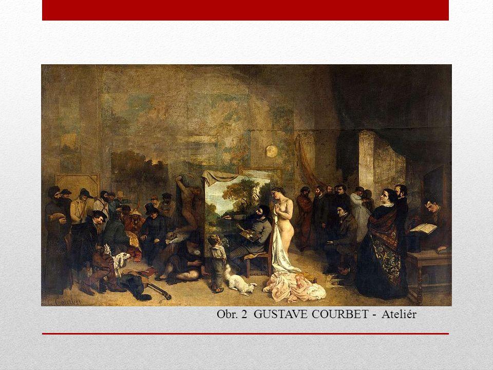 Obr. 2 GUSTAVE COURBET - Ateliér