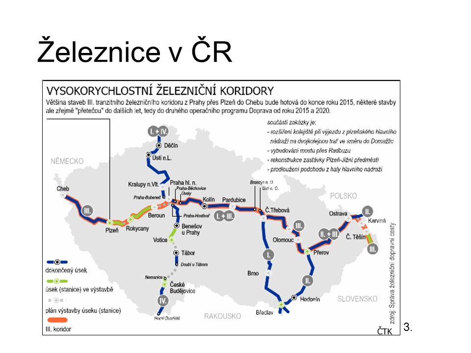 Vodní doprava nevhodné podmínky splavné pouze úseky některých řek Vltava od Prahy, Labe od Chvaletic většinou přeprava surovin nebo turistika – Baťův kanálBaťův kanál 4.