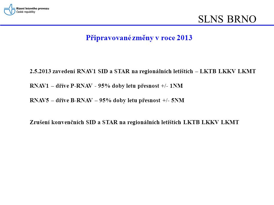 LNS BRNO RNAV1 SID/STAR – RWY10 od 2.5.2013 IAF ROGAD