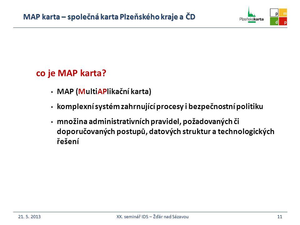 MAP karta – společná karta Plzeňského kraje a ČD 11 co je MAP karta.