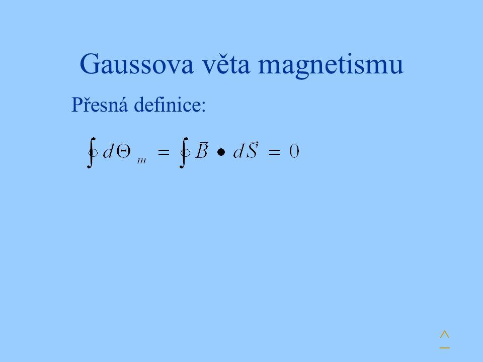 Gaussova věta magnetismu Přesná definice: ^
